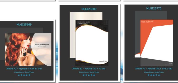 Les exemples, modèles d'affichesà personnaliser en ligne